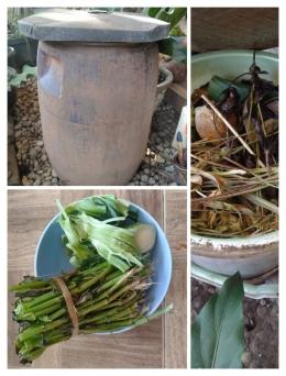 Membuat kompos dari sisa bahan makanan | foto: KRAISWAN