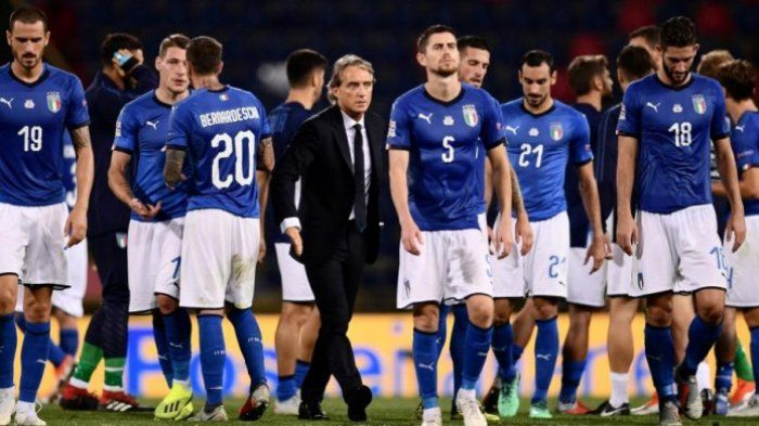 Gli Azzuri Asuhan Roberto Mancini di Euro 2020 | MARCO BERTORELLO / AFP