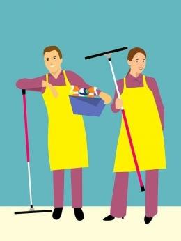 Melakukan pekerjaan rumah tangga berdua, suami-istri. Sumber gambar : Pixabay.