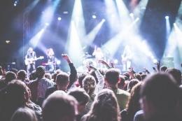 Ilustrasi menonton konser musik (sumber gambar: pixabay.com)