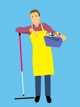 Suami bertugas melakukan pekerjaan rumah tangga. Sumber gambar : Pixabay.