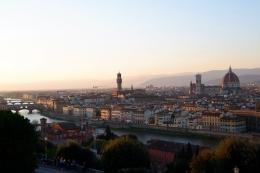 Pemandangan Kota Florence dari Piazzale Michelangelo (Dokumentasi pribadi)