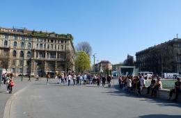 Kawasan Castello Sforzesco(Dokumentasi pribadi)