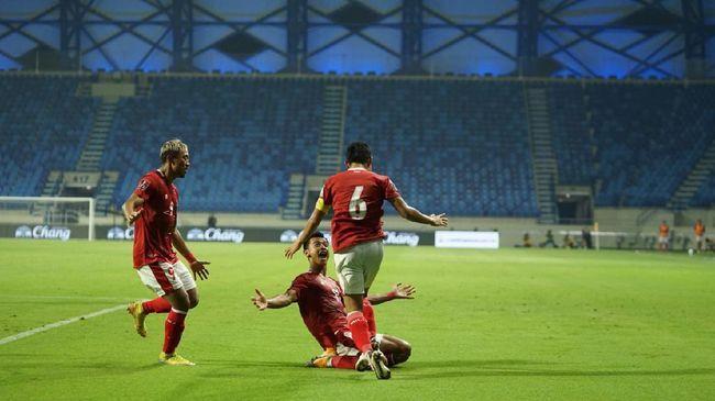 Evan Dimas kapten Timnas Garuda merayakan gol yang dicetak oleh Kadek Agung (Foto PSSI.org)