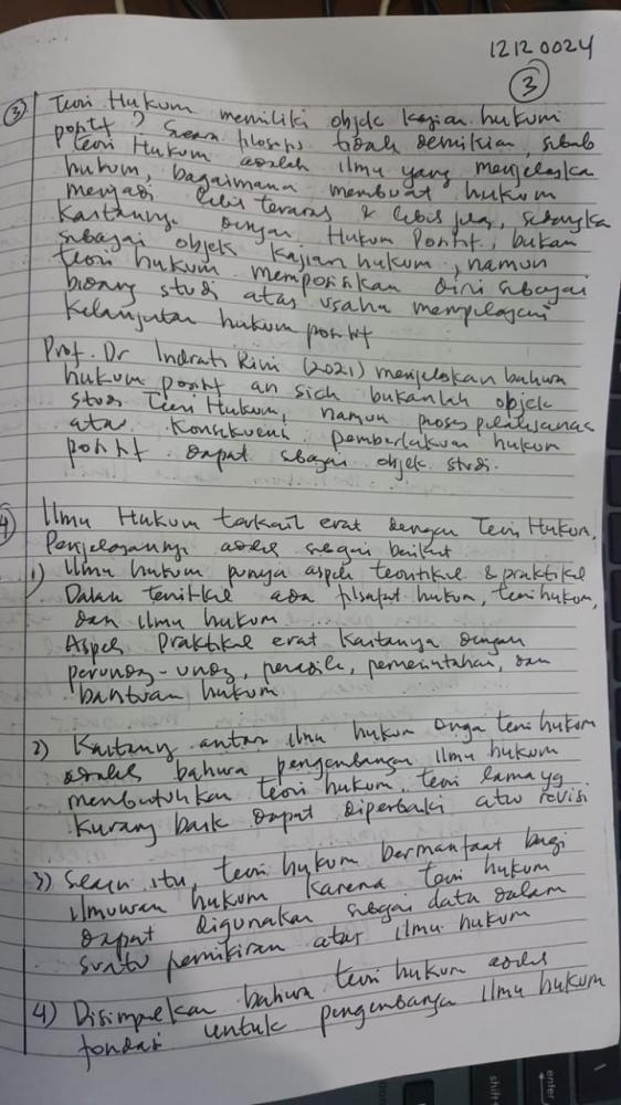 Tahun 2021 masih ada dosen mewajibkan tulisan tangan di UTS untuk menghindari plagiarisme (Dokpri)