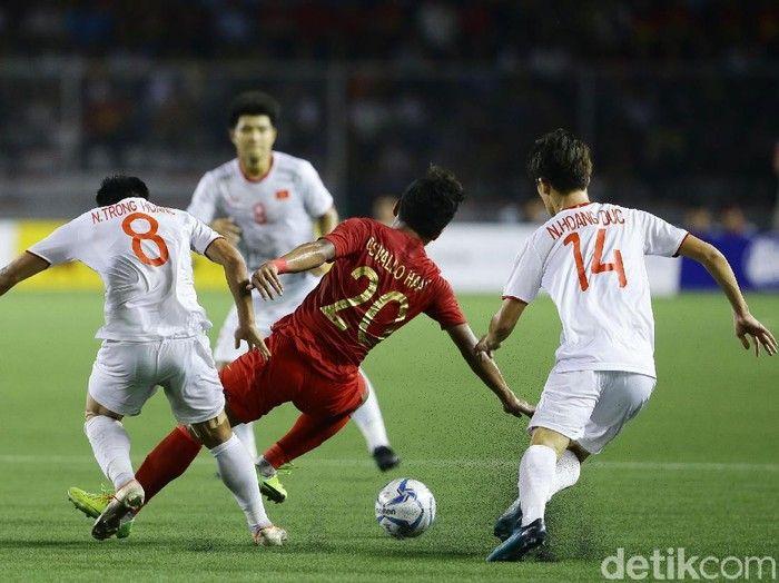Timnas Indonesia kehilangan 3 poin di putaran kedua Kualifikasi Piala Dunia 2022 Zona Asia di stadion Al Maktoum. Sport.detik.com