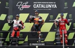 Podium MotoGP Catalunya 2021, sumber : https://assets.pikiran-rakyat.com