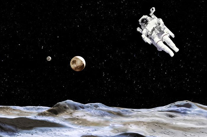 Ilustrasi Neil Amstrong mendarat di bulan.(Sumber via Hai Grid)