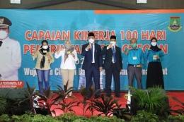 Acara peringatan capaian kinerja 100 Hari Wali Kota Cilegon (foto Facebook Helldy Agustian II)