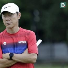 Shin Tae-yong asal Korea Selatan, pelatih Timnas Indonesia. Sumber Gambar ; bola.com