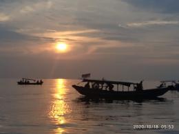 Pagi hari di laut Kepulauan Seribu-dokpri