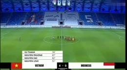 Timnas Garuda kalah 0-4 dari Vietnam (gambar: Dokrpri. Tangkapan layar youtube)
