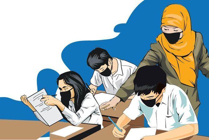 Ilustrasi pembelajaran tatap muka. Foto: radarkudus.jawapos.com.