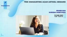 Webinar Trik Swasunting Artikel 12 Juni 2021 | Dok Inspirasiana