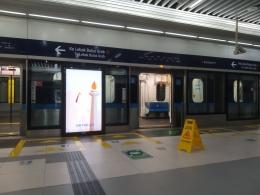 Dokumentasi pribadi /Sayangnya, stasiun MRT Jakarta tidak memakai