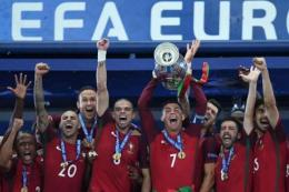 Timnas Portugal Ketika Menjuarai Euro 2016 - Sumber : bola.kompas.com
