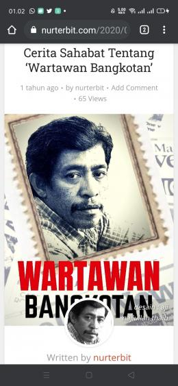 Personal branding sebagai Wartawan Bangkotan saya jadikan judul buku (foto dok Nur Terbit)