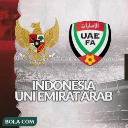 Indonesia vs UAE yang berakhir dengan kemenangan 5-0 untuk UAE (bola.com)