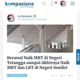 Dokpri artikel Ari Budiyanti tahun 2020