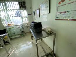 Timmy, Kucing Kami Sedang Diperiksa di Rumah Sakit Hewan Provinsi Jawa Barat. Sumber: dokumentasi pribadi.