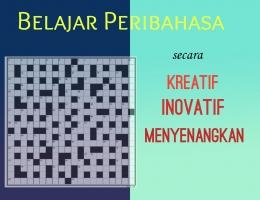 Ilustrasi belajar Peribahsa (kreasi pribadi menggunakan brochure maker)