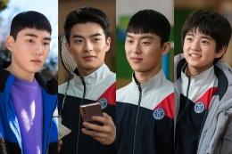 Hae-kang, Bang Yoo-dam, Na Woo-chan, dan Lee Yong-tae (Sumber: tribunnewswiki/netflix)