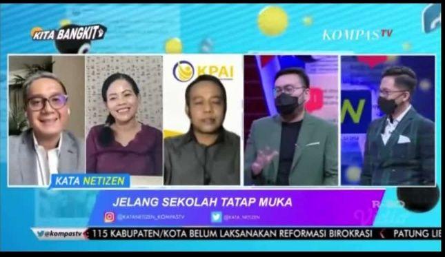 Tangkapan layar live streaming cara Kata Netizen Kompas TV (dokumentasi Martha Weda)