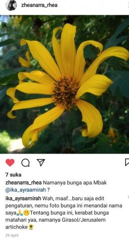 Sahabat dumay mengetahui passion saya (screenshoot instagram dokpri)