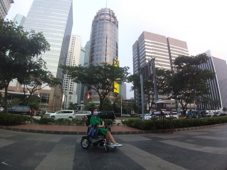 Perjalananku sepanjang jalur protocol Sudirman -- Thamrin, Jakarta/Dokumentasi pribadi