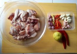 Persiapan bahan masakan   Dokumentasi pribadi Siska Artati