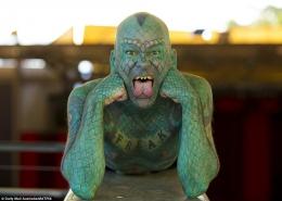 """Erik Sprague """"The Lizardman""""-Ilustrasi : dailymail"""