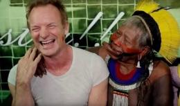 Sting dan Kepala Suku Kayapo Amazon-Ilustrasi : dailynewsfortravelers
