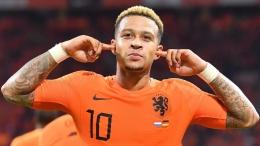 Memphis Depay menjadi juru gedor utama Belanda di Euro 2020. (Fox Sports Online)