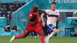 Romelu Lukaku pencetak dua gol untuk Belgia di Euro 2020 (Foto REUTERS/Evgenia Novozhenina)