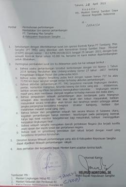 Surat dari Alm. Helmud Hontong. Gambar dari news.detik.com
