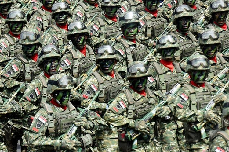 Ilustrasi pasukan TNI. (ANTARA FOTO/YUSRAN UCCANG via KOMPAS.com)