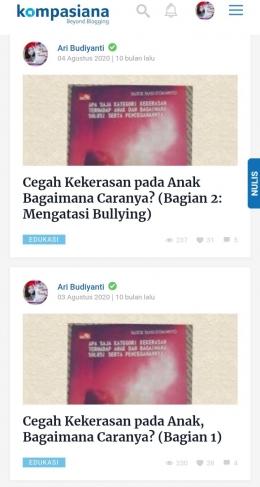 Dokpri tangkap layar artikel Ari Budiyanti