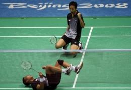 Momen Kemenangan Markis Kido/Hendra Setiawan di Final Olimpiade Beijing 2008/Twitter/@ainurrohman