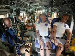 Pengujian sabuk pengaman dalam skenario kecelakaan helikopter di Pusat Penelitian Langley NASA | NASA/DOMAIN PUBLIK