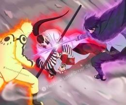 Naruto dan Sasuke vs Jigen, highlight anime Boruto episode 204 / deviantart.com