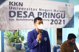 Foto penyampaian sambutan oleh Ketua/ Koordinator Desa