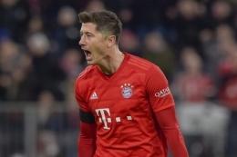 Robert Lewandowski Ketika Berseragam Bayern Muenchen - Sumber : bola.kompas.com