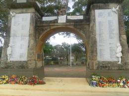 Pintu gerbang tugu Pahlawan di Wollongong(dok pribadi)