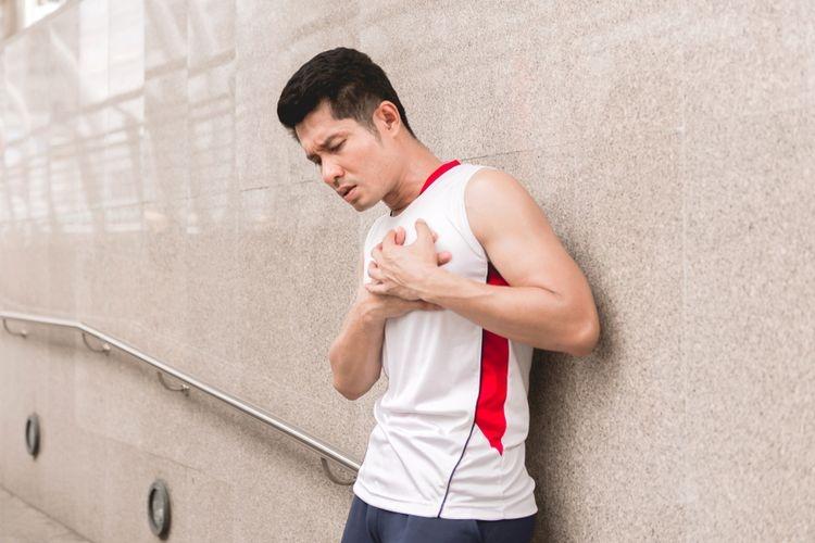 Ilustrasi serangan jantung ketika olahraga. Sumber: Shutterstock via Kompas.com