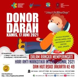 Deskripsi : Flayer Donor Darah I Sumber Foto : RSKO Jakarta