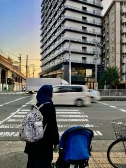 Jalanan di Osaka. Sumber: dokumentasi pribadi