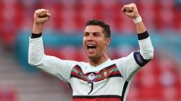 Critiano Ronaldo saat merayakan gol ke gawang Hungaria dalam lanjutan Euro 2020. Sumber: sport.detik.com