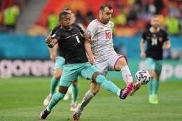 Aksi David Alaba Ketika Membela Timnas Austria - Sumber : bola.kompas.com