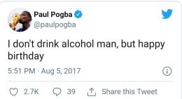 Pernyataan Paul Pogba di Twitter,foto : Tangkapan Layar Twitter Paul Pogba