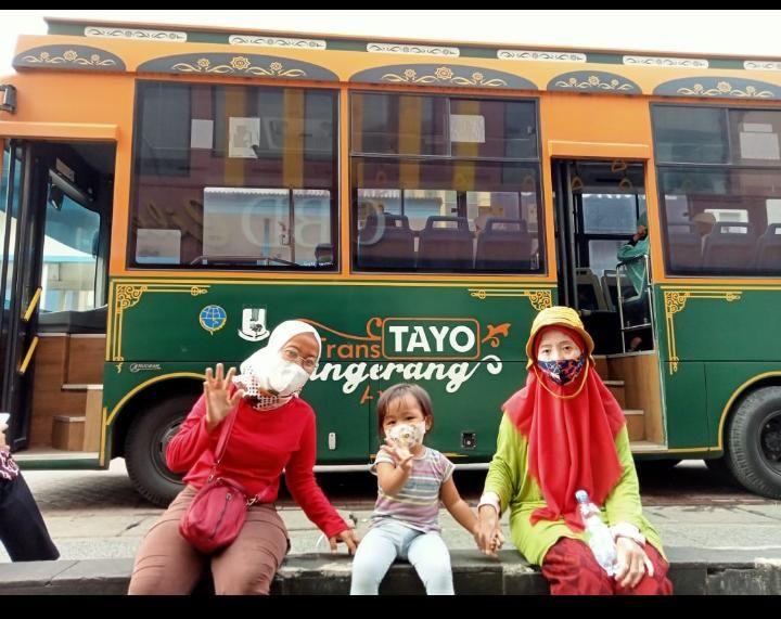 Penampakan bus Tayo (dokpri)